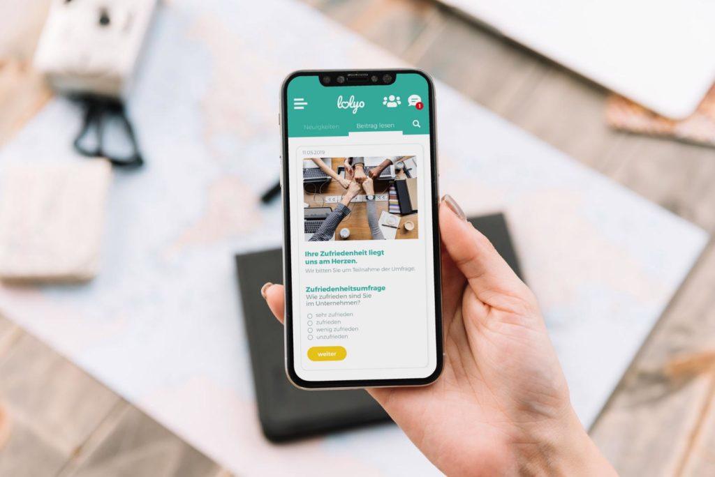 LOLYO Mitarbeiter-App Mitarbeiterbefragung