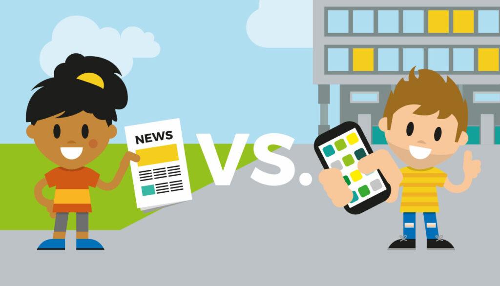 Mitarbeiterzeitung vs. Mitarbeiter-App Vergleich Bild